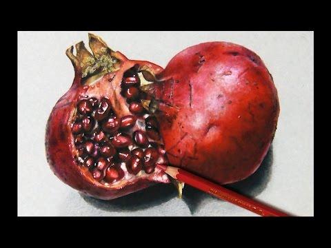 How I draw a Pomegranate, Hyperrealistic art