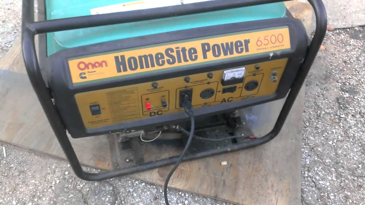 an HomeSite 6500 generator sale video