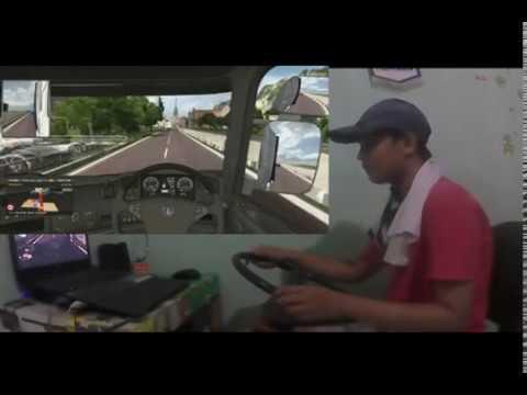 Sopir Bis Nekat Lewat Banjir Besar || ETS2 MOD SUMATERA