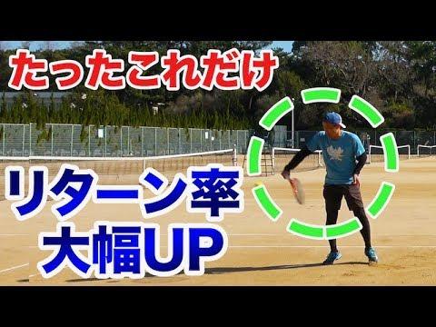 【テニス リターン 】ちょっとしたコツでレベルアップするリターン