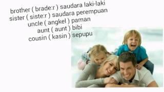 lagu bahasa Inggris ( family )