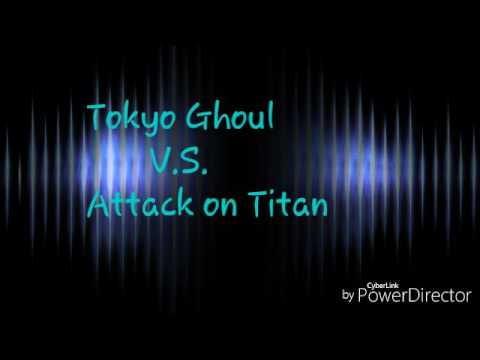 Tokyo ghoul vs attack on titan