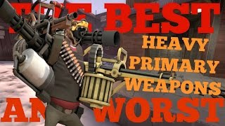 The Best and Worst: TF2 Heavy Primary Weapons