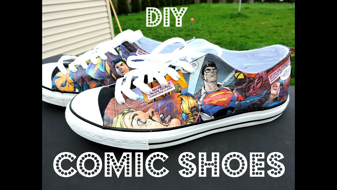 DIY COMIC BOOK CONVERSE - YouTube 512814ab1