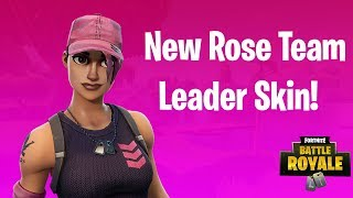 *NEW* ROSE TEAM LEADER Skin Gameplay! - Fortnite Battle Royale