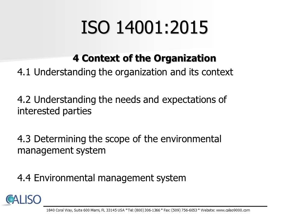 Iso 14001 Requirements Pdf