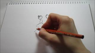 How to Draw a Whimsical Dancing Couple- Stick Figures