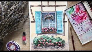 Видео урок рисования акварели