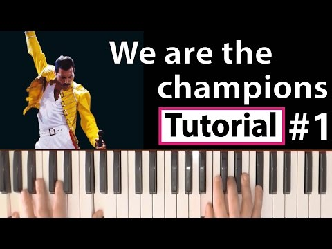 "Como tocar ""We are the champions""(Queen) - Parte 1/2 - Piano tutorial y partitura"