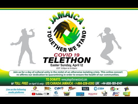 COVID-19 Relief Telethon LIVE | Jamaica Together We Stand