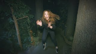 Ellen's Employee Mackenzie Kicks Her Way Through a Haunted House