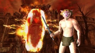 Khajiit goes to the Oblivion realm.