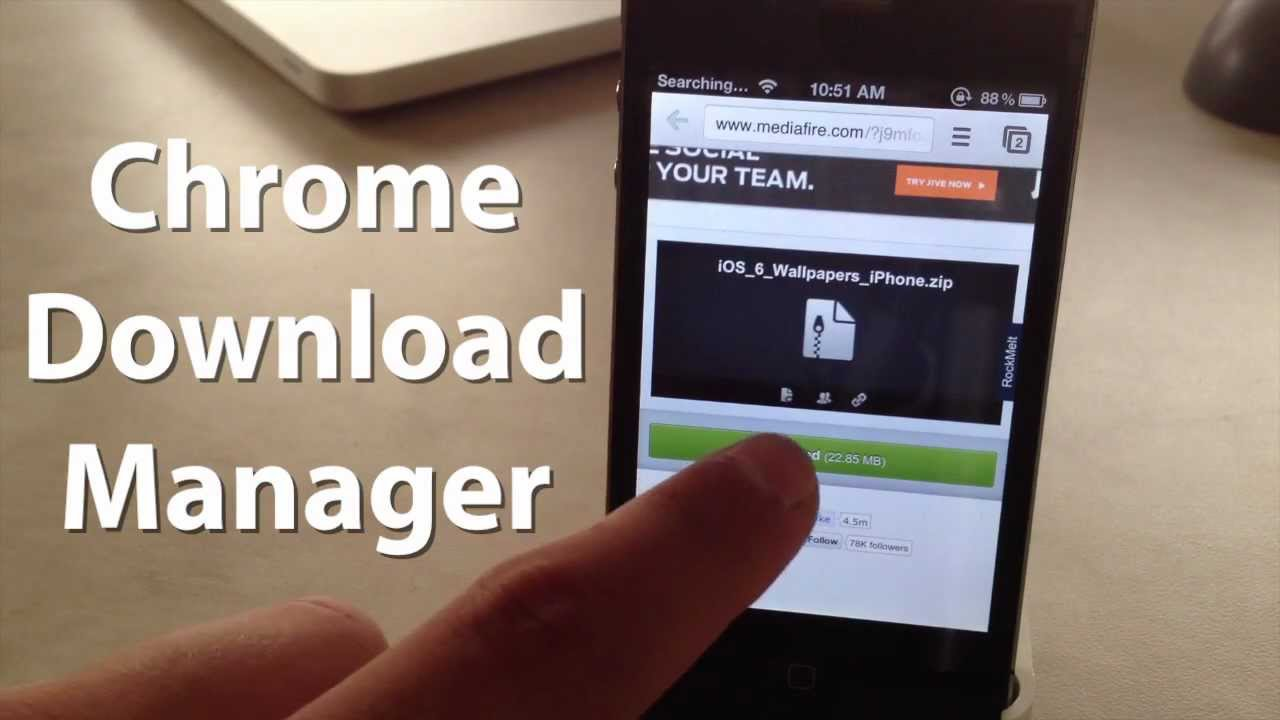 Chrome Download Manager - Download Files From Chrome Browser on iPhone