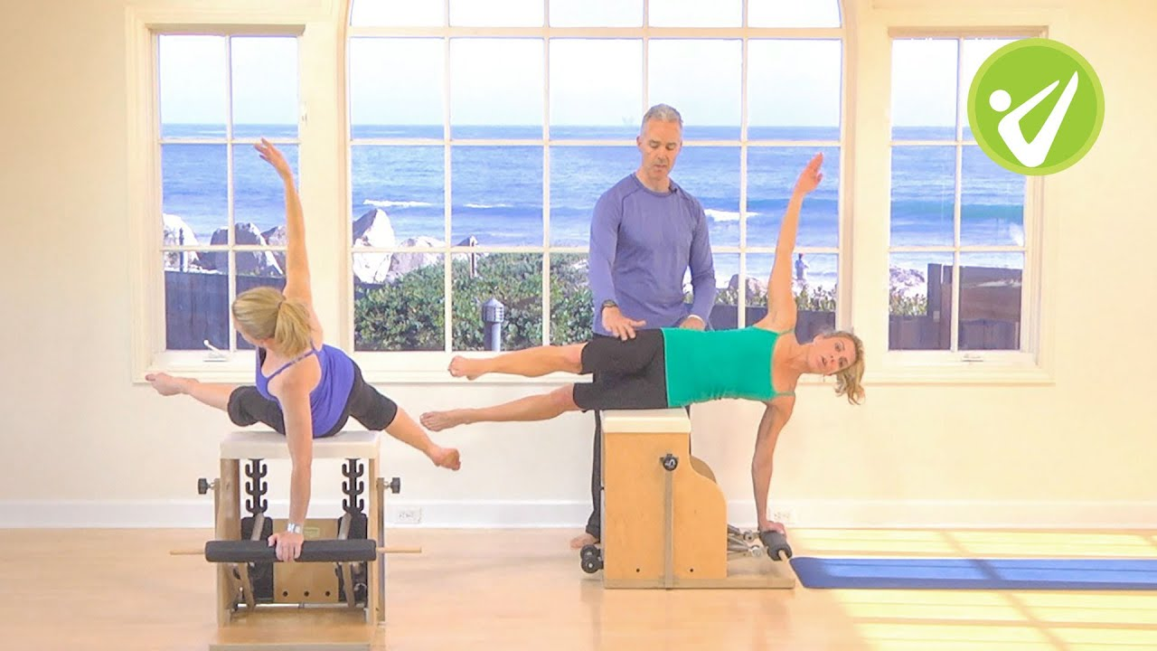 chair exercises on tv barrel back dining tom mccook pilates wunda youtube