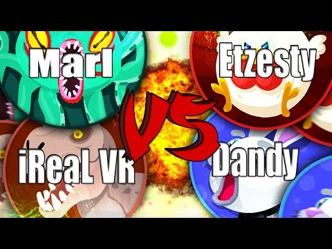 Agar.io iReaL VR & Marl VS ETZesty & Dandy Official Versus [2-1] GAME 3
