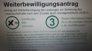 طريقة تعبئة استمارة WBA الجوب سنطر بكل سهولة للجدد بالمانيا Weiterbiwilligungsantrag 2018