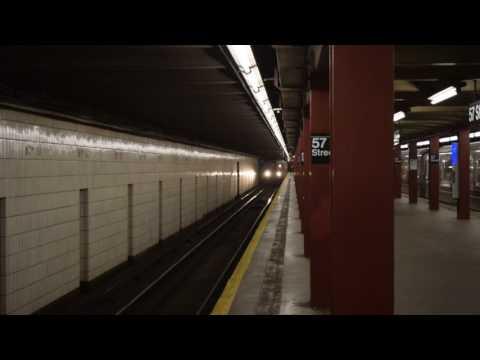 RARE! 96th Street-2nd Avenue-bound R68A (B) train entering 57th Street (IND 6th Avenue Line)