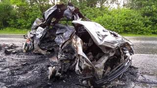 Под Тулой в ДТП заживо сгорели три человека
