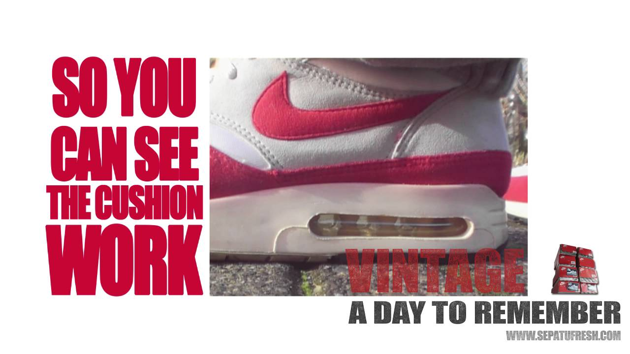 new arrivals 342ad 7fefe Nike Air Max 1 1986 - Big Window - Vintage A Day To Remember 3