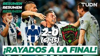 Resumen y Goles | Rayados 2 (6) - (5) 0 FC Juárez | Copa Mx - Semifinal Vuelta | TUDN