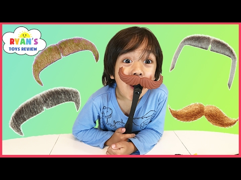Family Fun Game Night for Kids Mustache Smash Toy Challenge! Egg Surprise Toy Kids Video