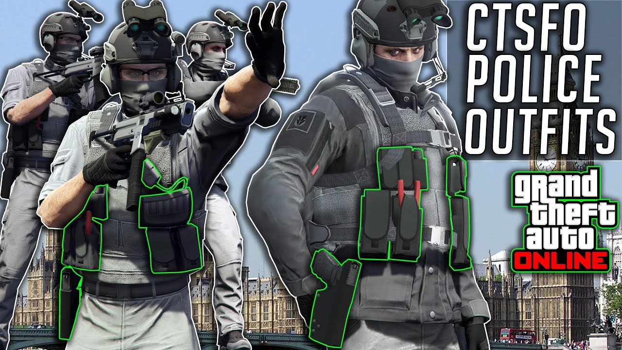 GTA 5 Online CTSFO Police Outfits After Patch 1.51 Summer Special Clothing Glitches Not Modded