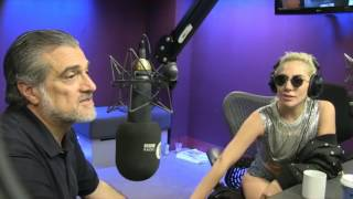 Lady Gaga and her dad chat to Grimmy on BBC Radio 1 September 2016.