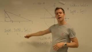 Sinusrelationerne - bevis for formlen i stumpvinklede trekanter