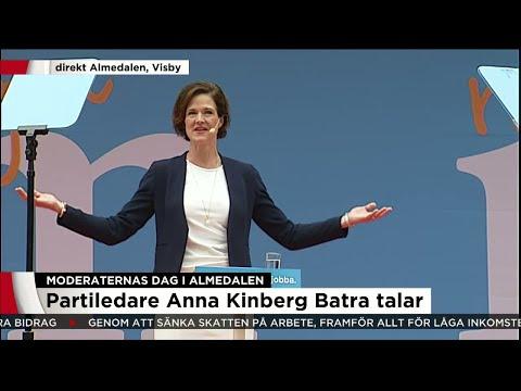 Anna Kinberg Batra (M) i Almdalen - se hela talet här - Nyheterna (TV4)
