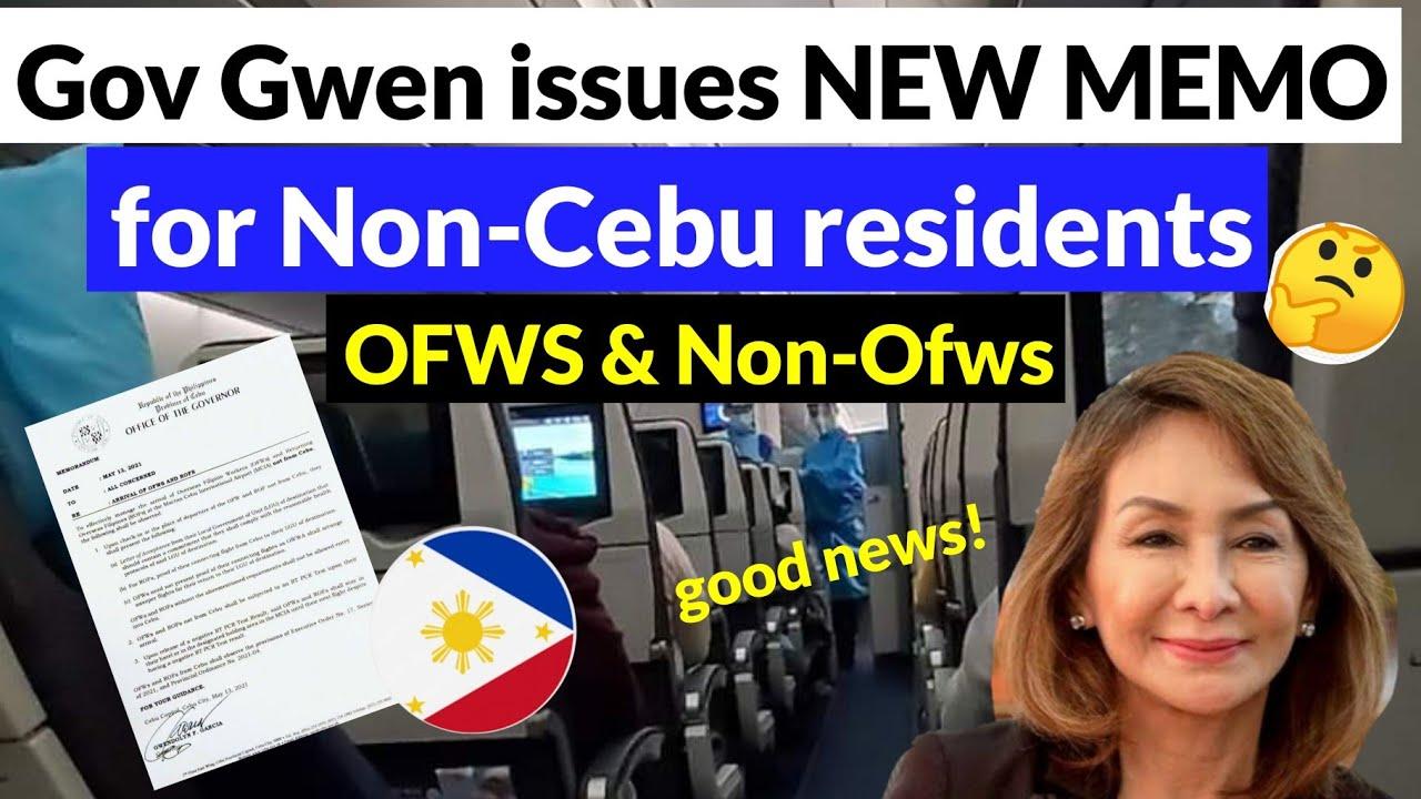 NEW MEMO BY GOV GWEN FOR NON-CEBU RESIDENTS LANDING IN CEBU AIRPORT (Good news!) | Philippine Travel