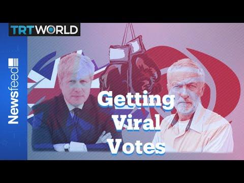Boris Johnson and Jeremy Corbyn campaign with parodies
