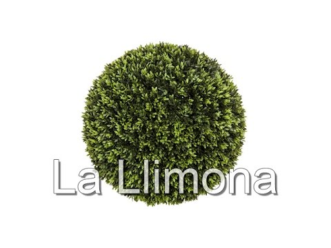 Plantas artificiales planta bola grass artificial verde - Decoracion plantas artificiales ...