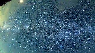 2018年ペルセウス座流星群 火星と流れ星
