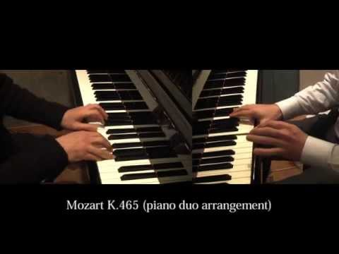 """Mozart K.465 """"Dissonance"""" 1st and 2nd mov. (piano duo arrangement)"""
