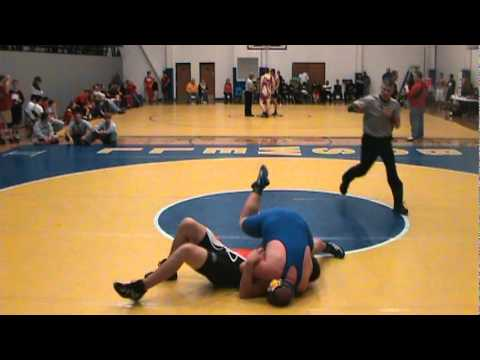 Zac Collier wrestling first pin