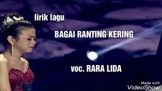 Gambar cover BAGAI RANTING YANG KERING RARA LIDA lirik lagu