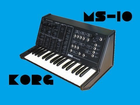 KORG MS-10 Analog Synthesizer 1978   HQ DEMO