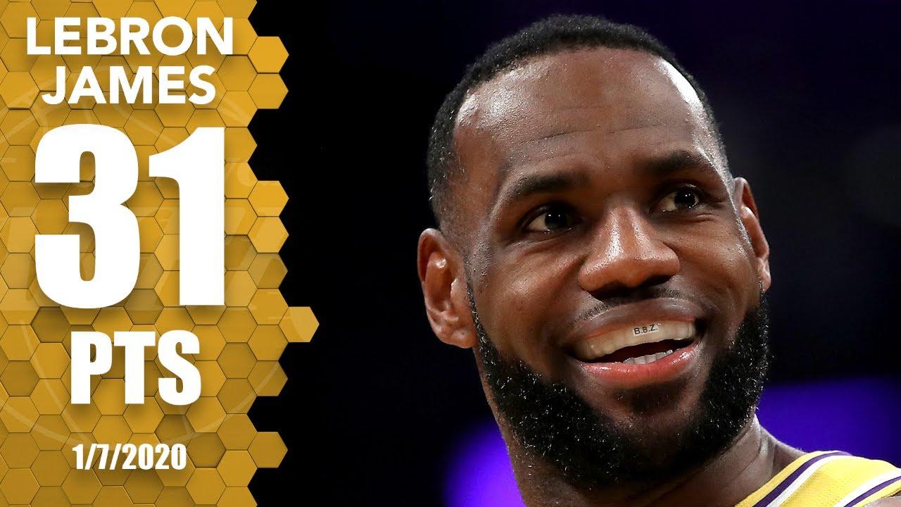 LeBron James drops 31 points, 6 3-pointers vs. Knicks at home   2019-20 NBA Highlights