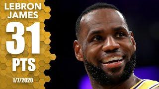 LeBron James drops 31 points, 6 3-pointers vs. Knicks at home | 2019-20 NBA Highlights