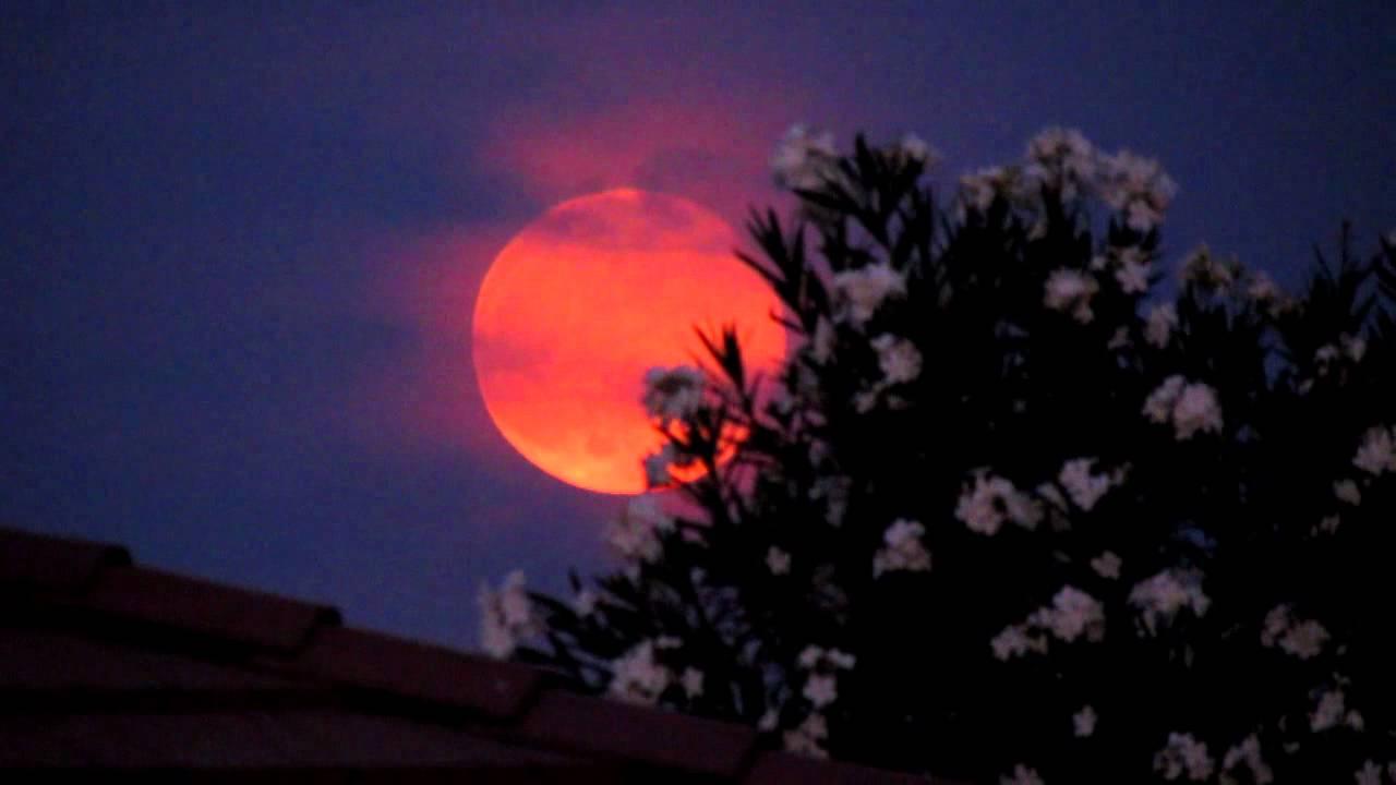 Scary Orange Full Moon In July An Ominous Warning Youtube