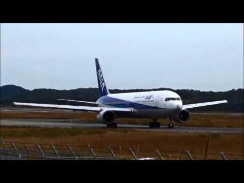 【岡山空港】 飛行機エンジン音比較(B737・B767・B787)/airplane engine sound comparison okayama airport(japan)