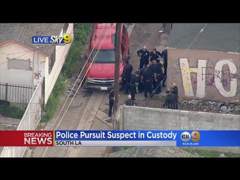Suspect Arrested In South LA Pursuit