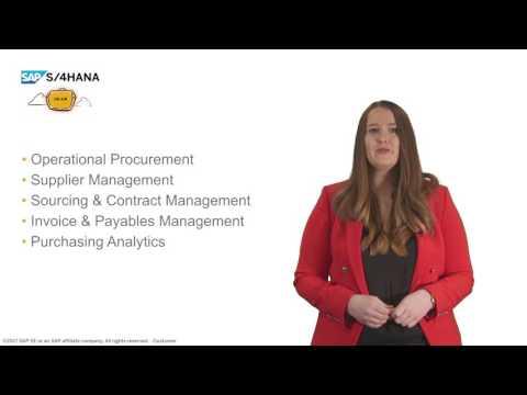 SAP S/4HANA Cloud 1705: Update on Sourcing and Procurement