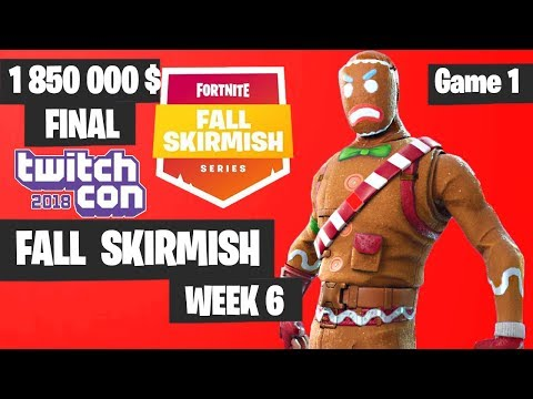 Fortnite Fall Skirmish Week 6 Grand Final Game 1 Highlights - Fortnite TwitchCon