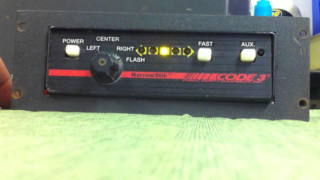 Code 3 Narrowstik Arrowstick Controller Youtube Flasher Wiring Diagram