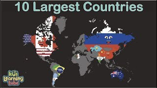 Top 10 Biggest Countries in the World/Top 10 Largest Countries in the World