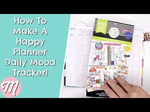 How To Make A Happy Planner Daily Mood Tracker! Know Your Happy!