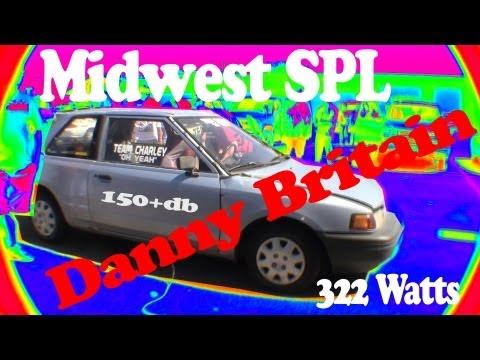 2 12 inch Kickers + 322 watts = 150+DB Danny Britain Midwest SPL basic 1 run.