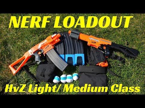 [Nerf Loadout] HvZ Light/ Medium Class