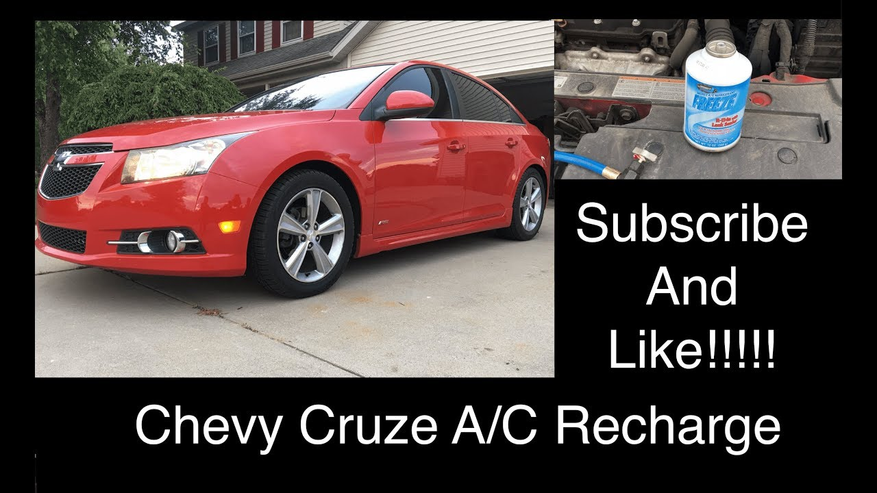 Chevy Cruze Sonic Air Conditioner A C Recharge How To Diy Youtube